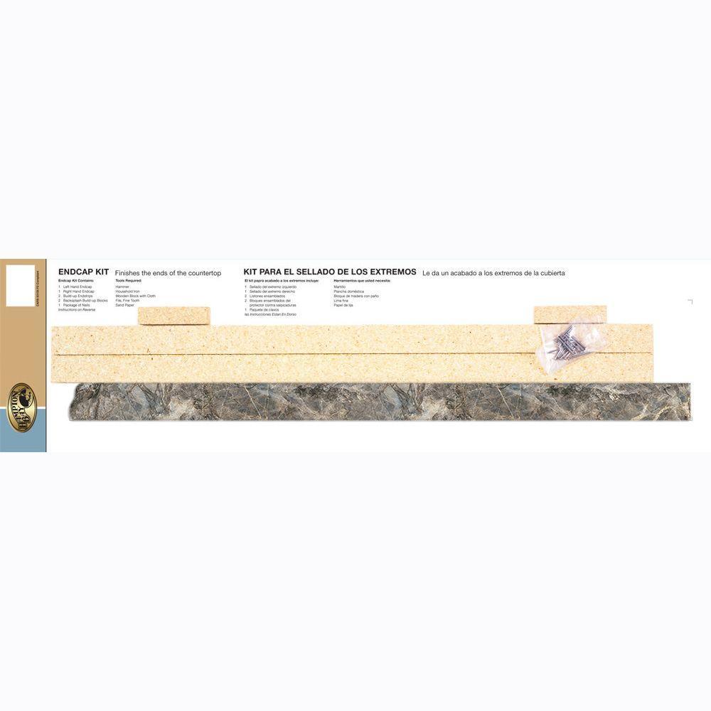 Geneva 0.75 in. x 1.375 in. Single Roll Laminate Endcap Kit