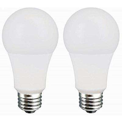 60W Equivalent Daylight A19 Dimmable LED Light Bulb (2-Pack)