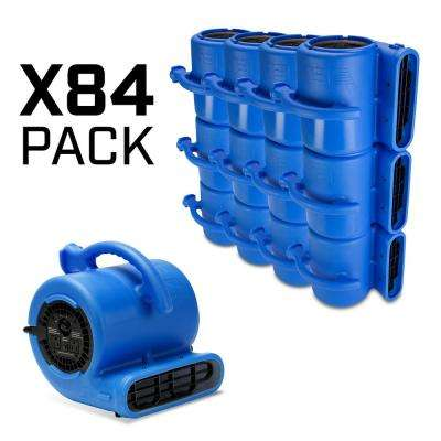 1/4 HP Air Mover for Water Damage Restoration Carpet Dryer Floor Blower Fan Home and Plumbing in Blue (84-Pack)