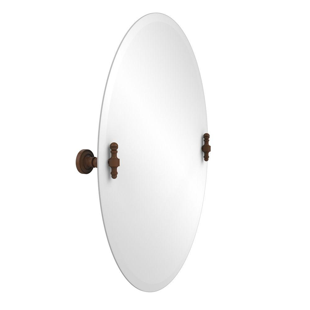 Retro-Dot Collection 21 in. x 29 in. Frameless Oval Single Tilt