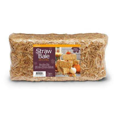 FloraCraft Decorative Straw Bale 8 in. x 9 in. x 20 in. Natural