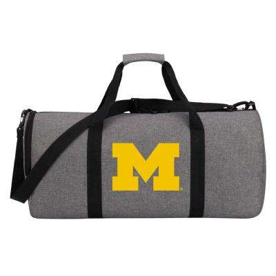 Michigan Wingman 10 in. Heathered Gray Duffle Bag