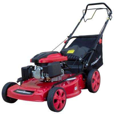 22 in. 3-in-1 196cc Gas Self Propelled Walk Behind Lawn Mower