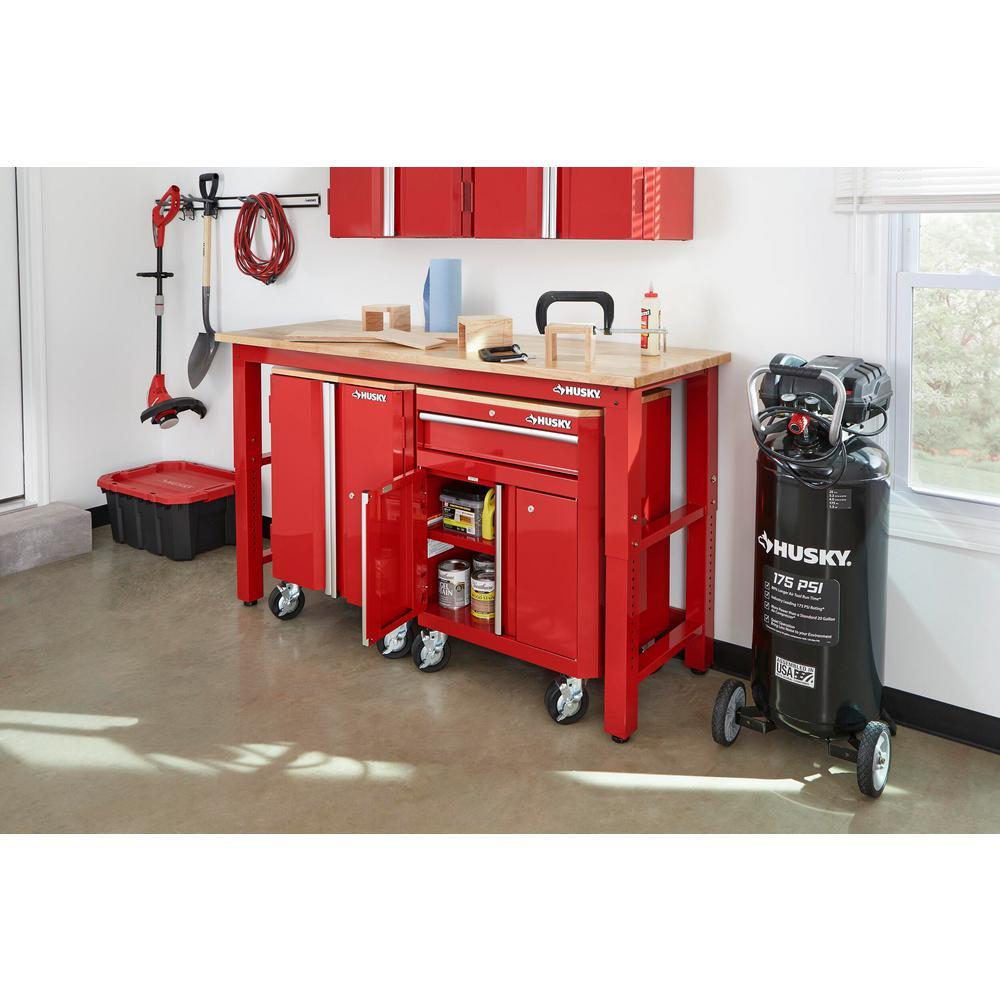72 in. W x 42 in. H x 24 in. D Steel Garage Cabinet Set in Red (3-Piece)