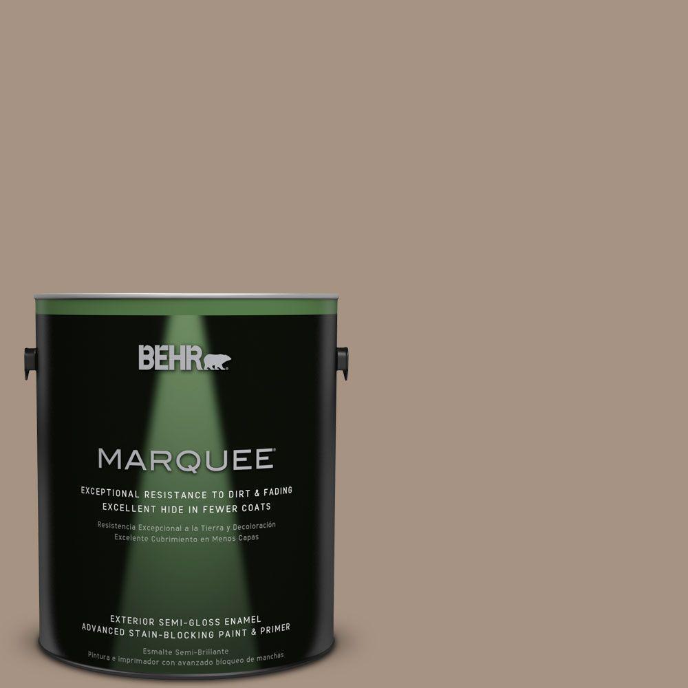 BEHR MARQUEE 1-gal. #PPU7-5 Pure Earth Semi-Gloss Enamel Exterior Paint