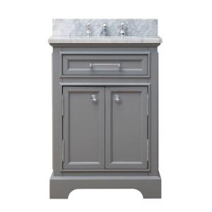 Water Creation 24 inch W x 21.5 inch D x 34 inch H Vanity in Cashmere Grey with Marble... by Water Creation