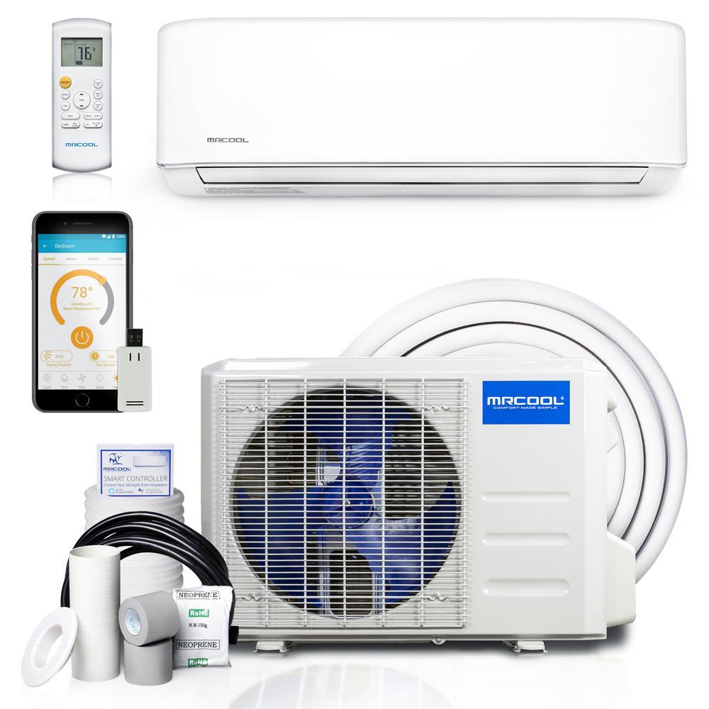 Advantage 3rd Gen 12,000 BTU 1 Ton Ductless Mini Split Air Conditioner and Heat Pump - 230V/60Hz