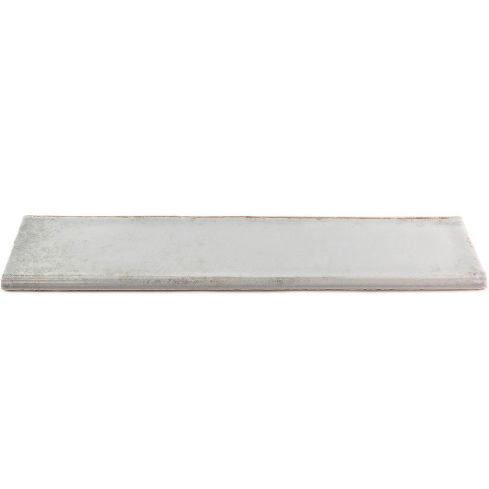 Ivy Hill Tile Moze Gray 3 in. x 12 in. Ceramic Bullnose Trim Wall Tile