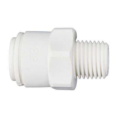 3/8 in. O.D. x 1/4 in. NPTF Polypropylene Push-to-Connect Male Connector