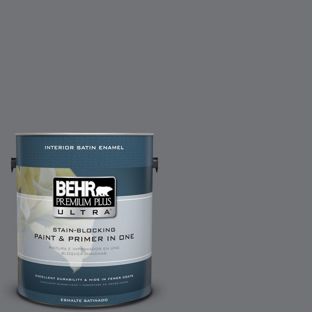 BEHR Premium Plus Ultra 1-Gal. #PPU18-3 Antique Tin Satin Enamel Interior Paint