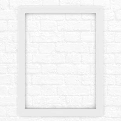 28 in. x 36 in. (M1) Rectangular Mirror Frame in Matte White