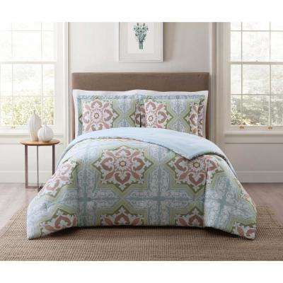 Sheffield Green Multi Full and Queen XL Comforter Set