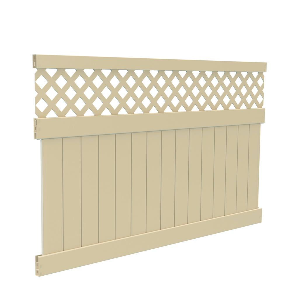 5 ft. H x 8 ft. W Sand Vinyl Carlsbad Privacy