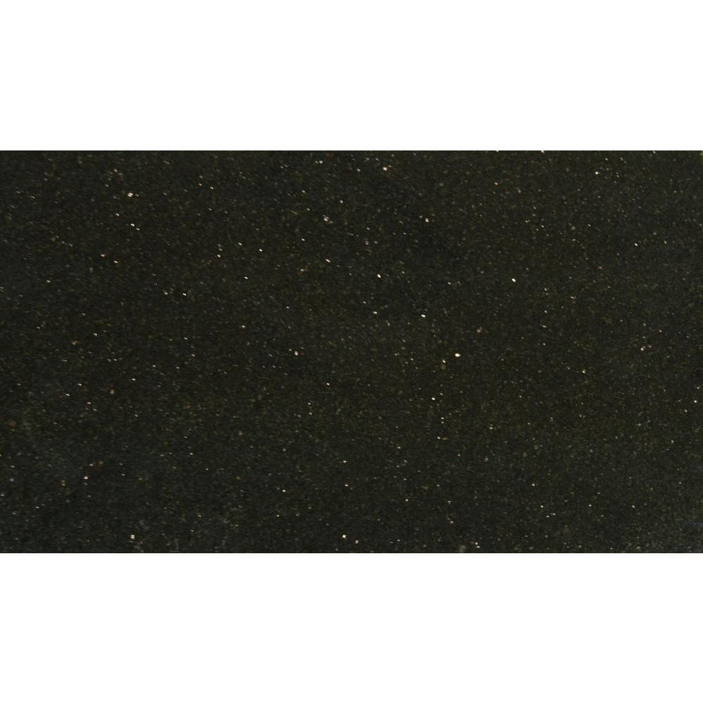 MSI Black Galaxy 18 in. x 31 in. Polished Granite Floor and Wall ...