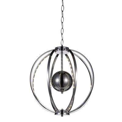 Jacquimo 4.5-Watt Chrome Integrated LED Chandelier