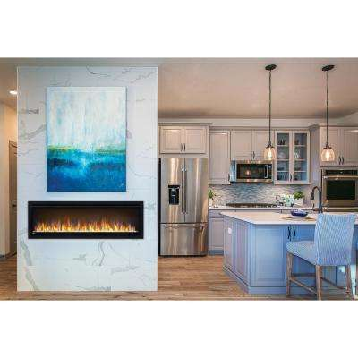 Alluravision 50 in. Wall Mount Slim Electric Fireplace