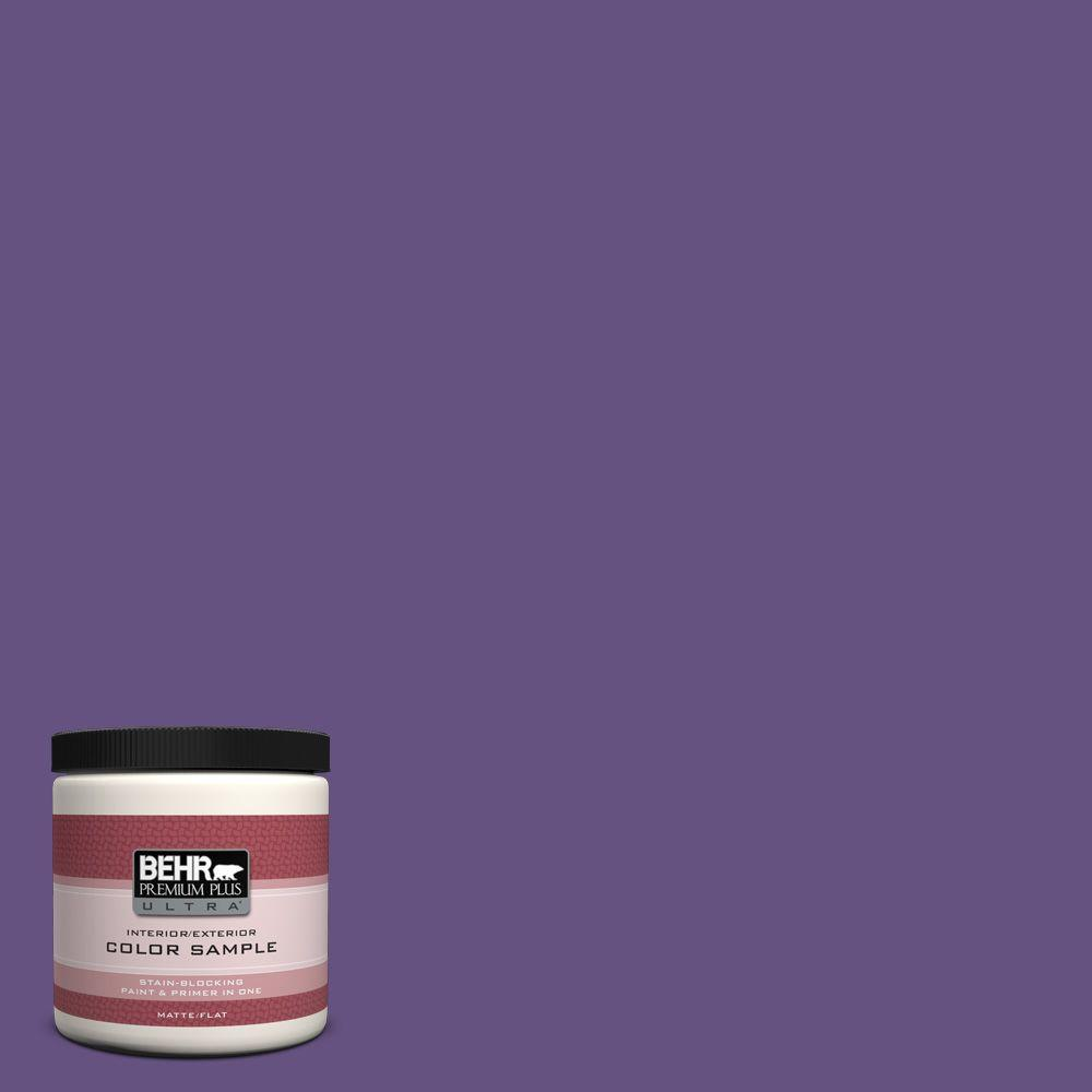BEHR Premium Plus Ultra 8 oz. Home Decorators Collection Virtual Violet Interior/Exterior Paint Sample