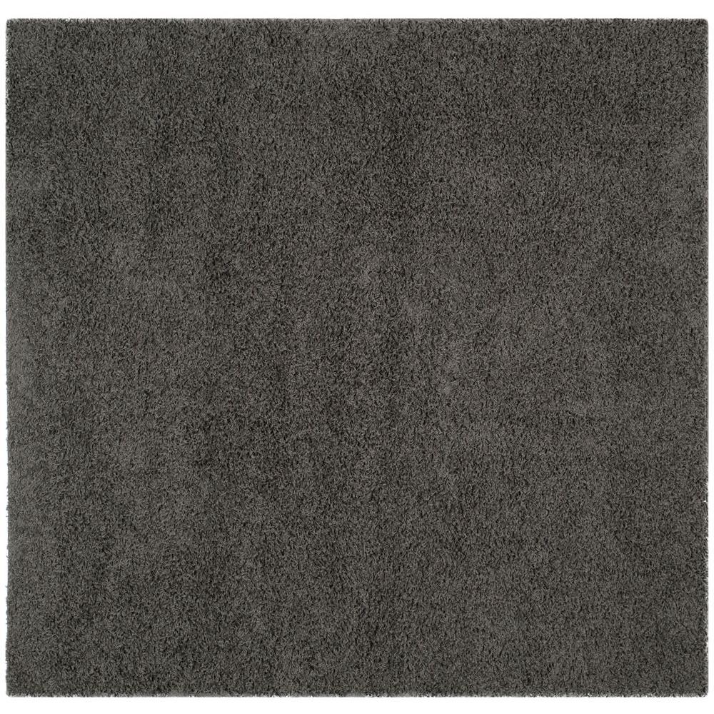 Athens Shag Dark Gray 6 ft. 7 in. x 6 ft.