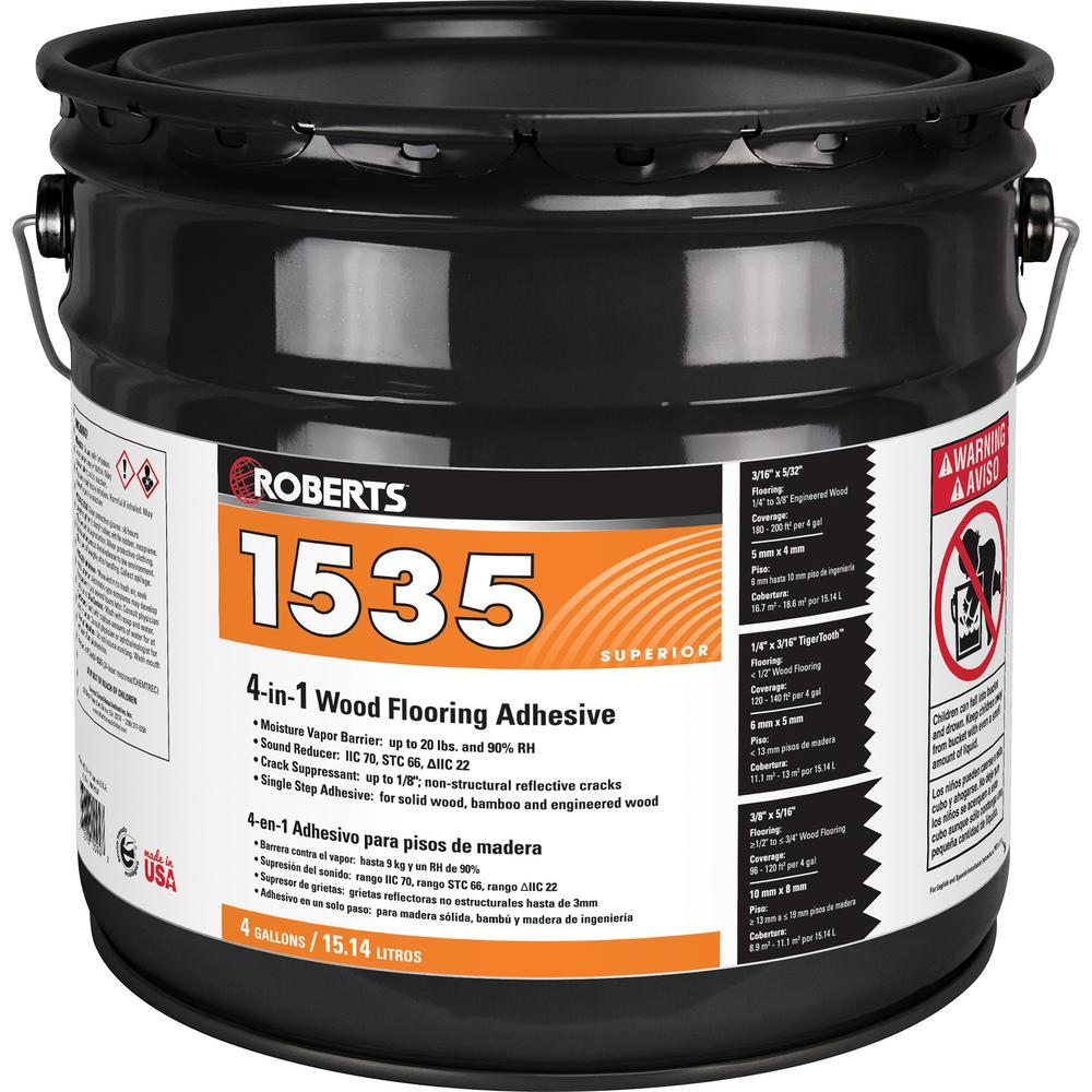 4 Gal. Premium 4-in-1 Wood Flooring Urethane Adhesive