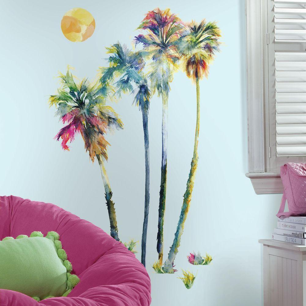 H Watercolor Palm Trees 14 Piece