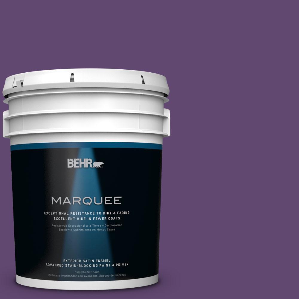 BEHR MARQUEE 5-gal. #S-G-670 Deep Violet Satin Enamel Exterior Paint