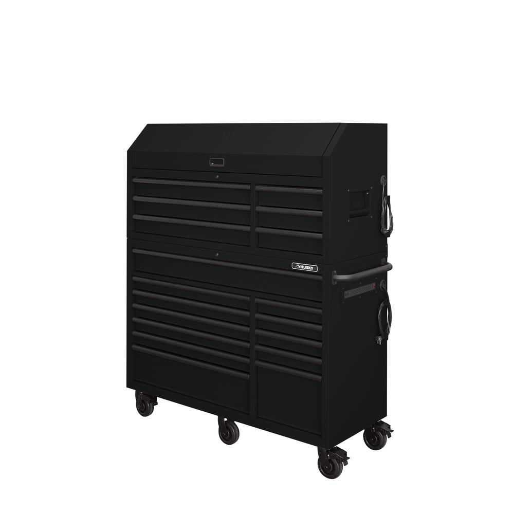 Husky Professional 56in 18-Drawer Matte Black Tool Chest and Cabinet Combo