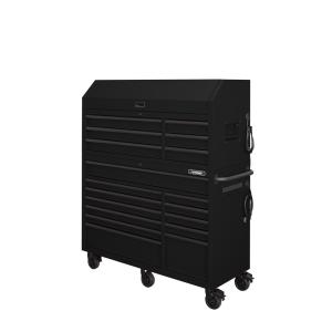 Heavy-Duty 56 in. W 18-Drawer Combination Tool Chest and Cabinet Set, Matte Black