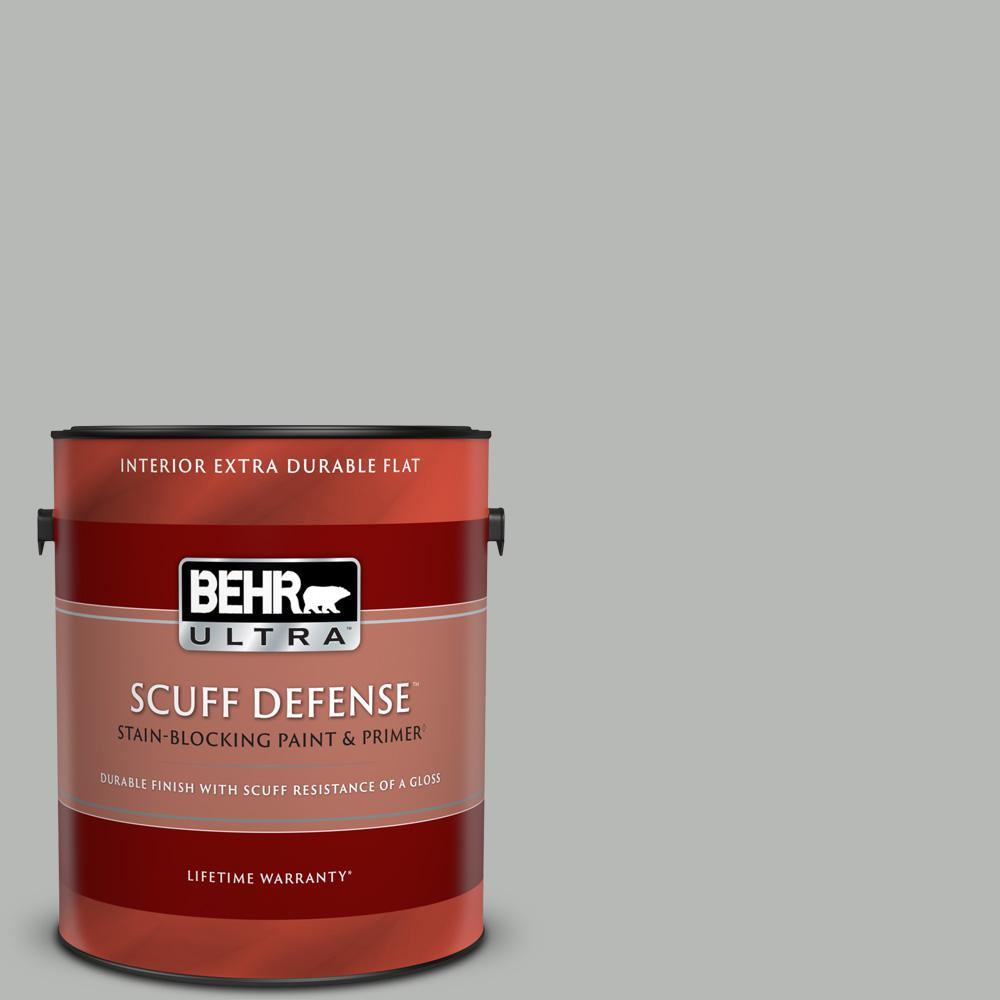 Reviews For Behr Ultra 1 Gal N460 3 Lunar Surface Extra Durable Flat Interior Paint Primer 172401 The Home Depot