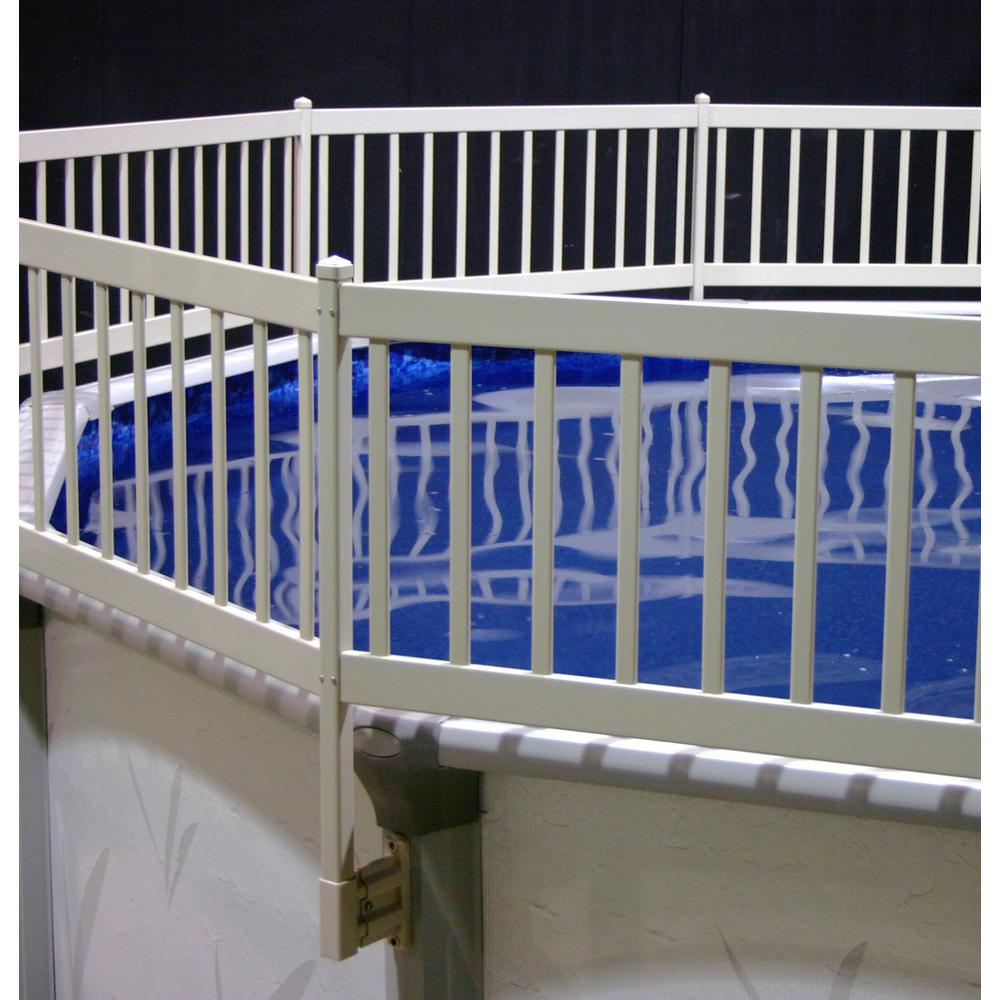 The Vinyl Works Above-Ground Pool Fence Kit (2 Sections) in Taupe