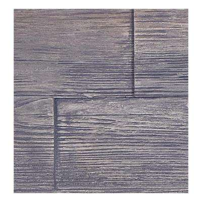 Superior Raised Grain 10 in. x 10 in. Faux Transitional Panel Siding Sample Weathered Barn