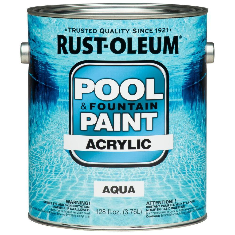 Rust-Oleum 1 gal. Aqua Acrylic Pool and Fountain Paint (Case of 2)