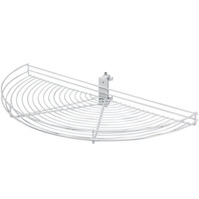 3.25 in. x 33.5 in. x 16.19 in. Pivot Half Moon White Wire Lazy Susan