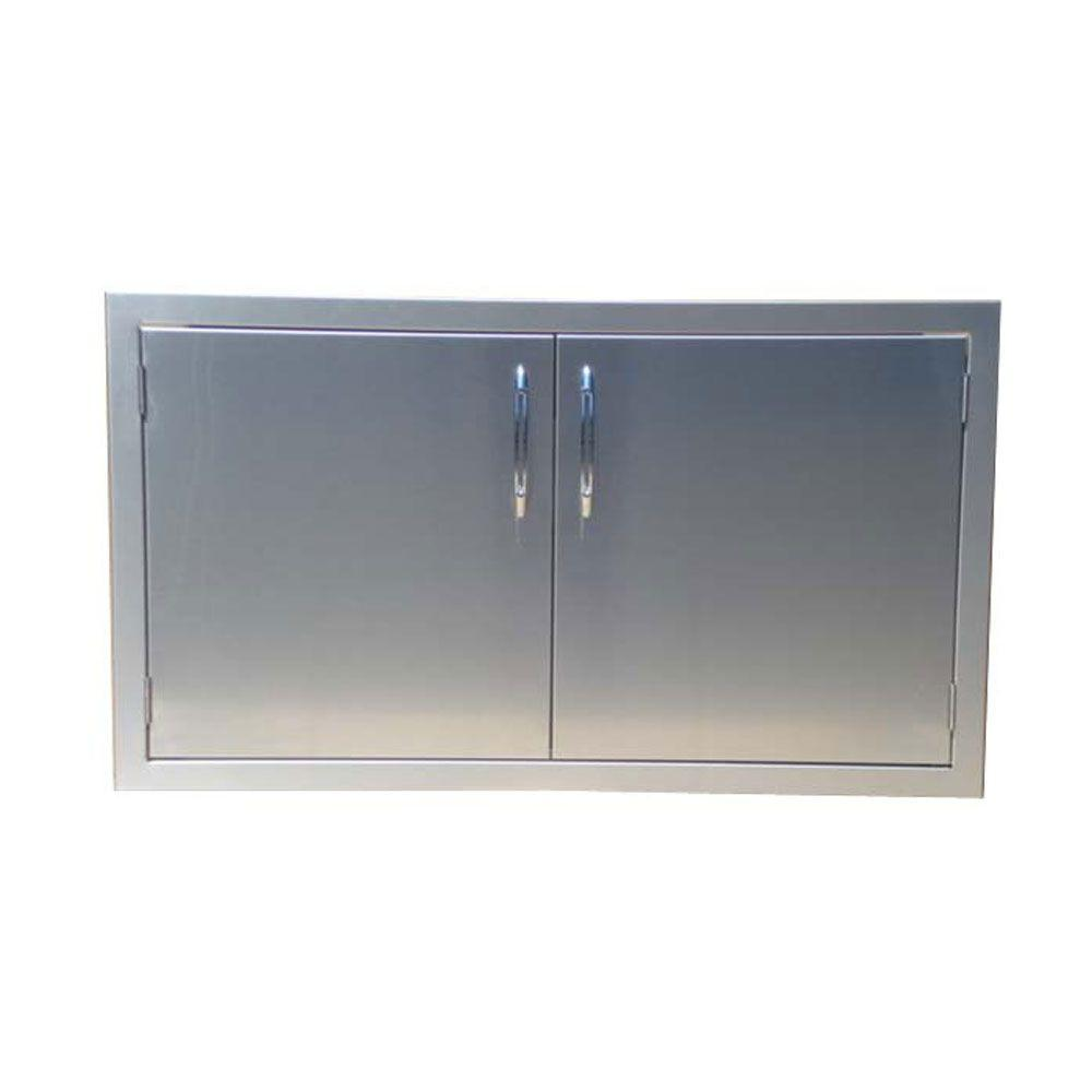 Kitchen Outside Doors: Capital Precision 40 In. Built-In Stainless Steel Double Access Doors-CG40ADS