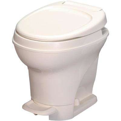 Aqua-Magic V RV High Permanent Toilet Foot Pedal Flush with Sprayer- Bone