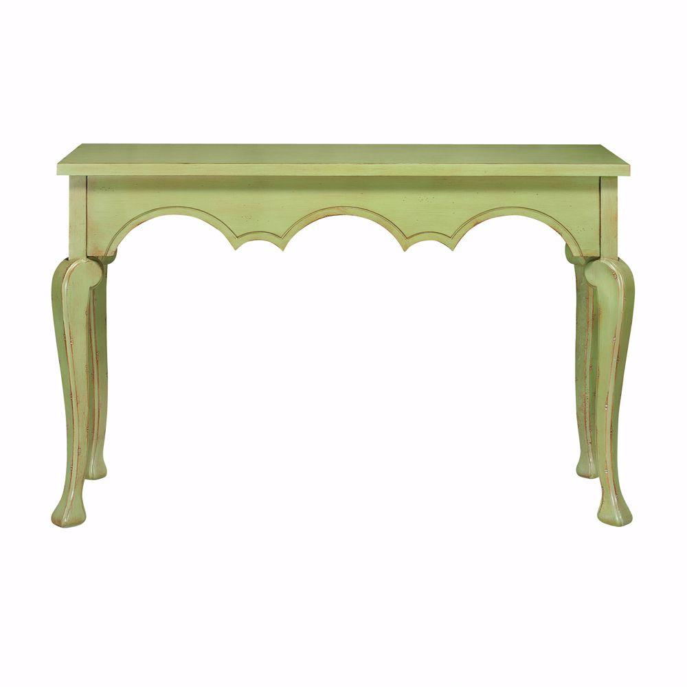 Home Decorators Collection Keys Antique Green Console Table