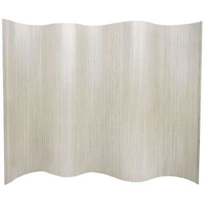6 ft. White Bamboo Wave 1-Panel Room Divider