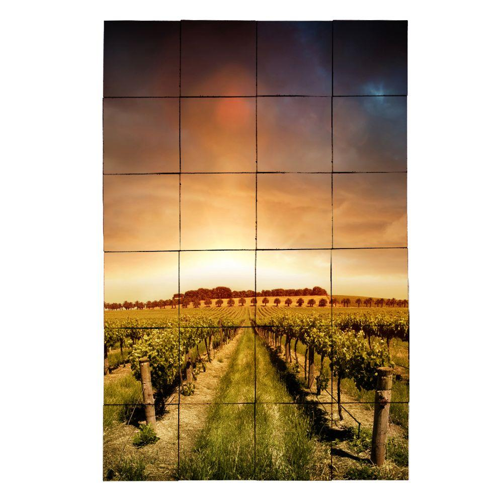 Vineyard2 24 in. x 36 in. Tumbled Marble Tiles (6 sq.