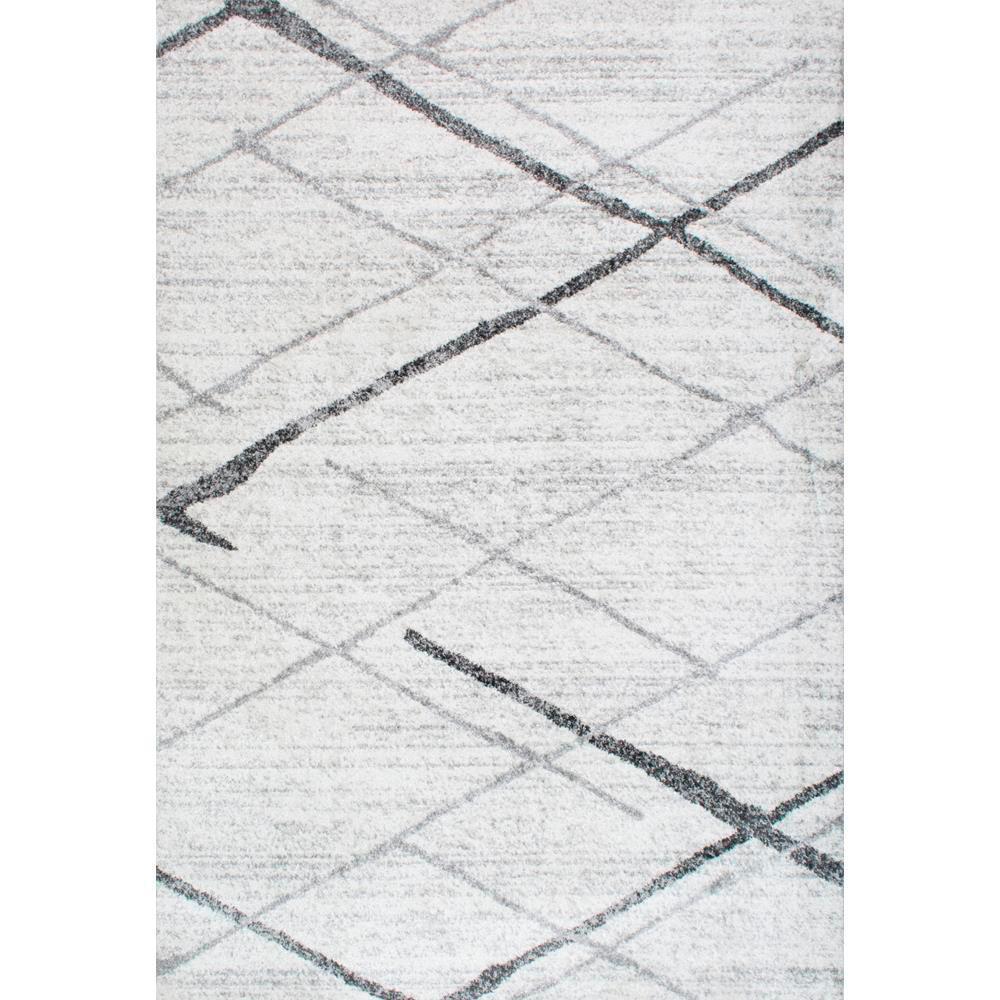 Nuloom Black And White Rug: NuLOOM Thigpen Grey 10 Ft. X 14 Ft. Area Rug-BDSM04A-10014