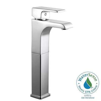 Lyss Single Hole 1-Handle Vessel Bathroom Faucet in Polished Chrome