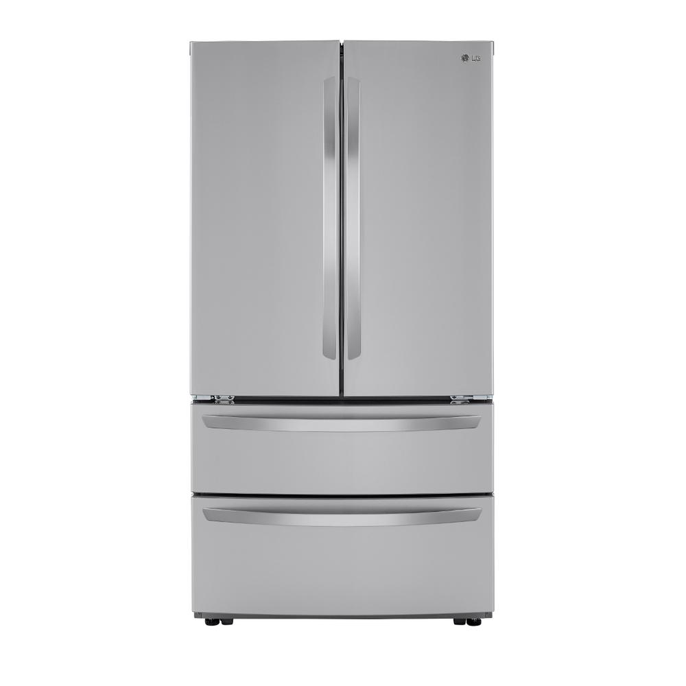 LG Electronics 26.9 cu. ft. 4-Door French Door Refrigerator with Internal Water Dispenser in PrintProof Stainless Steel-LMWS27626S - The Home Depot