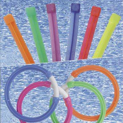 Dive Rings and Dive Stix Pool Toy Combo Pack
