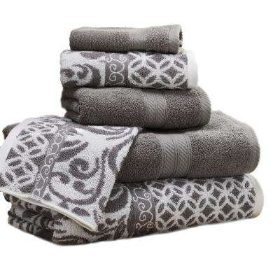 Trefoil Filigree 6 Piece Cotton Bath Towel