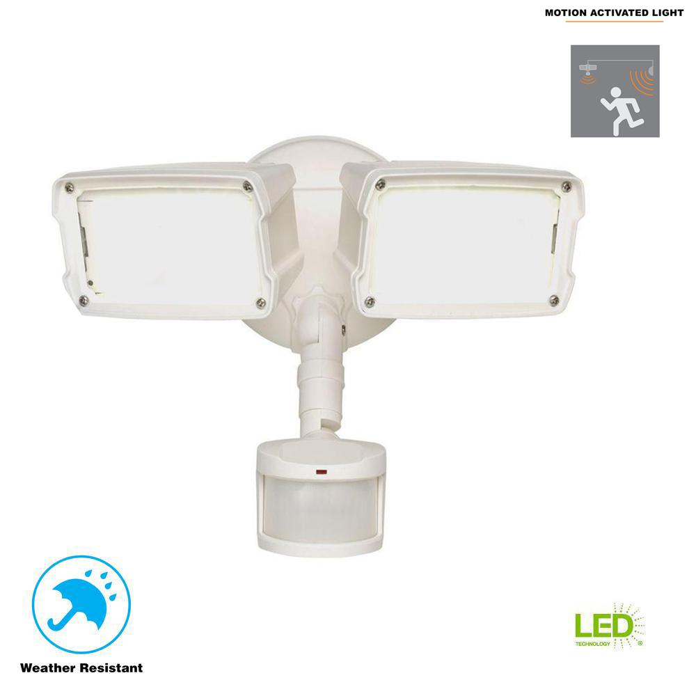 Defiant 180 Degree White Motion Activated Sensor Outdoor