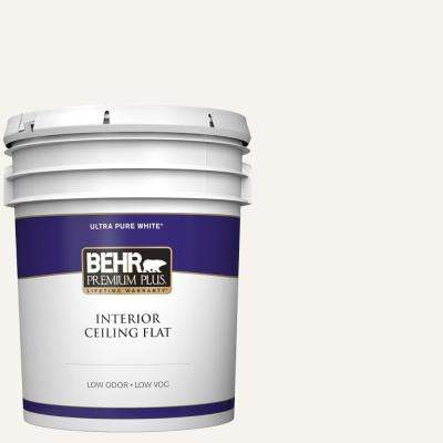 5 gal  Ultra Pure White Ceiling Flat Interior Paint