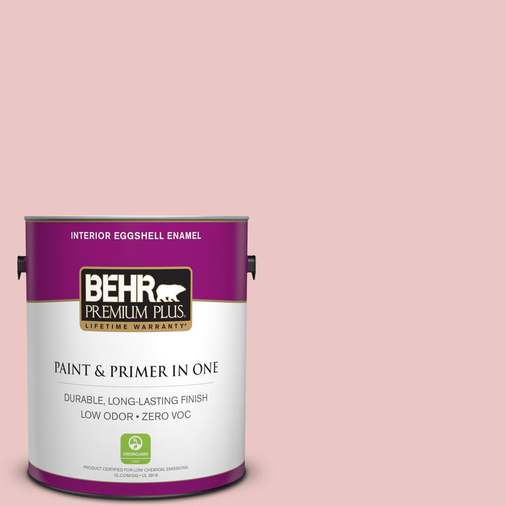 1-gal. #150E-2 Kashmir Pink Zero VOC Eggshell Enamel Interior Paint