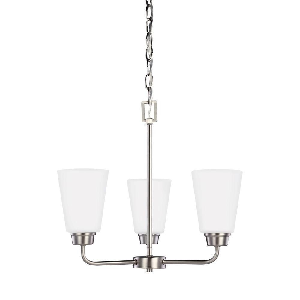 Sea Gull Lighting Kerrville 3-Light Brushed Nickel Single Tier Chandelier