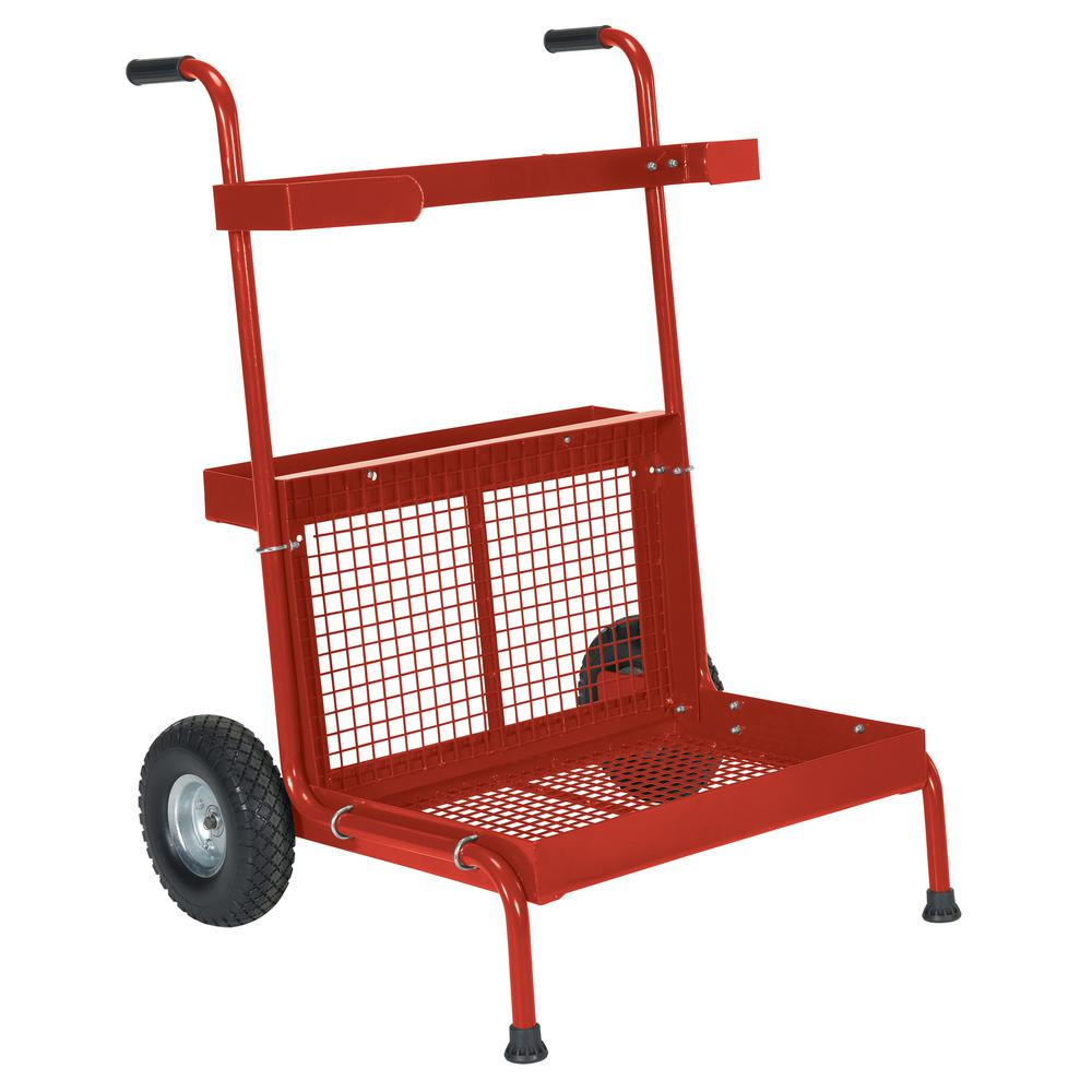 300 lbs. Capacity Red Portable Garden Dolly
