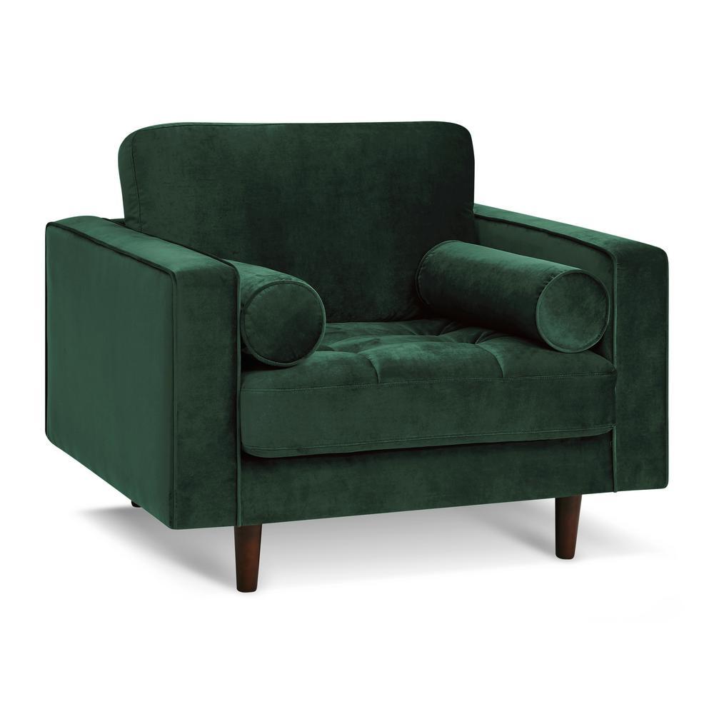 Inga Hunter Green Chair with Velvet