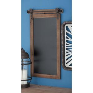 16 inch x 28 inch Traditional Wood and Metal Chalkboard by