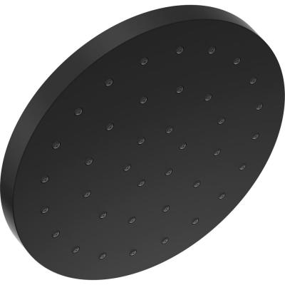 1-Spray Pattern with 2.5 GPM 12 in. Ceiling Mount Fixed Shower Head with H2Okinetic UltraSoak Spray in Matte Black